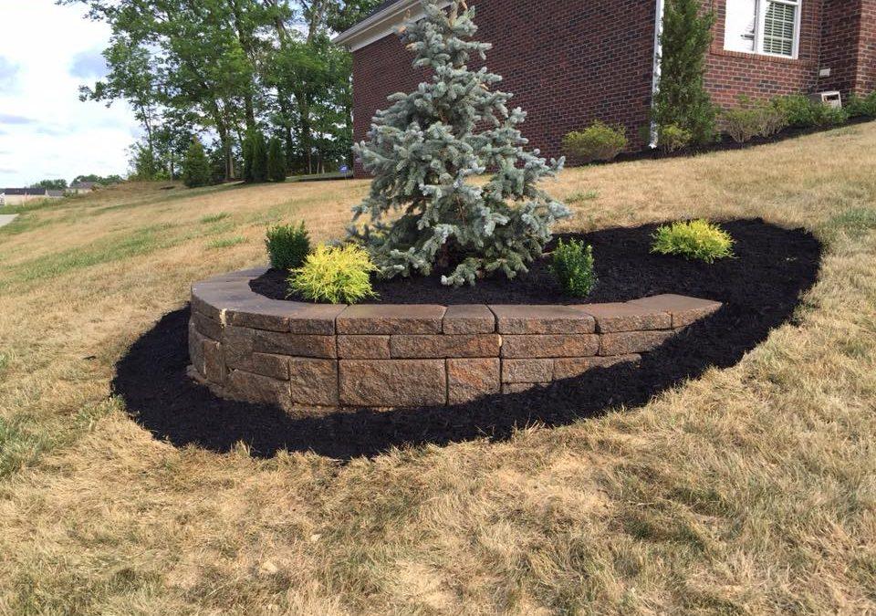 yard retaining wall
